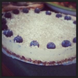 Dairy free, Sugar free and Raw Blueberry Cheesecake